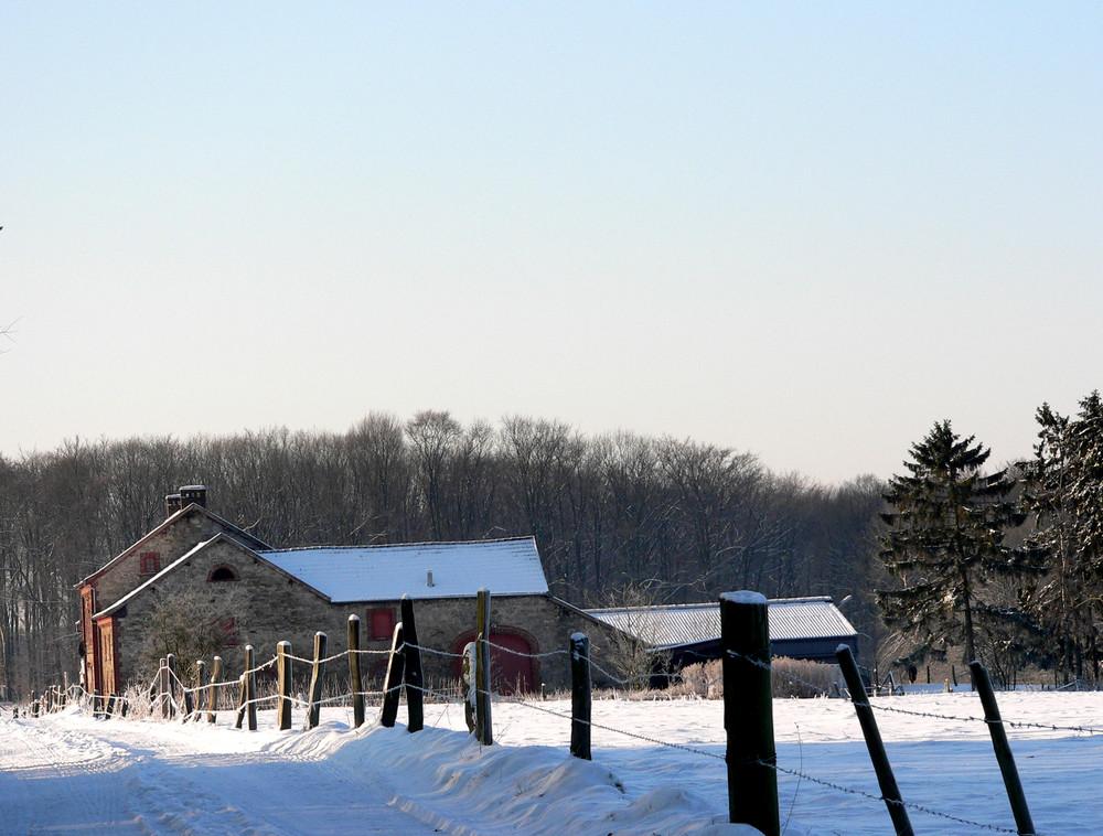 Altes Bauernhaus.Winter.