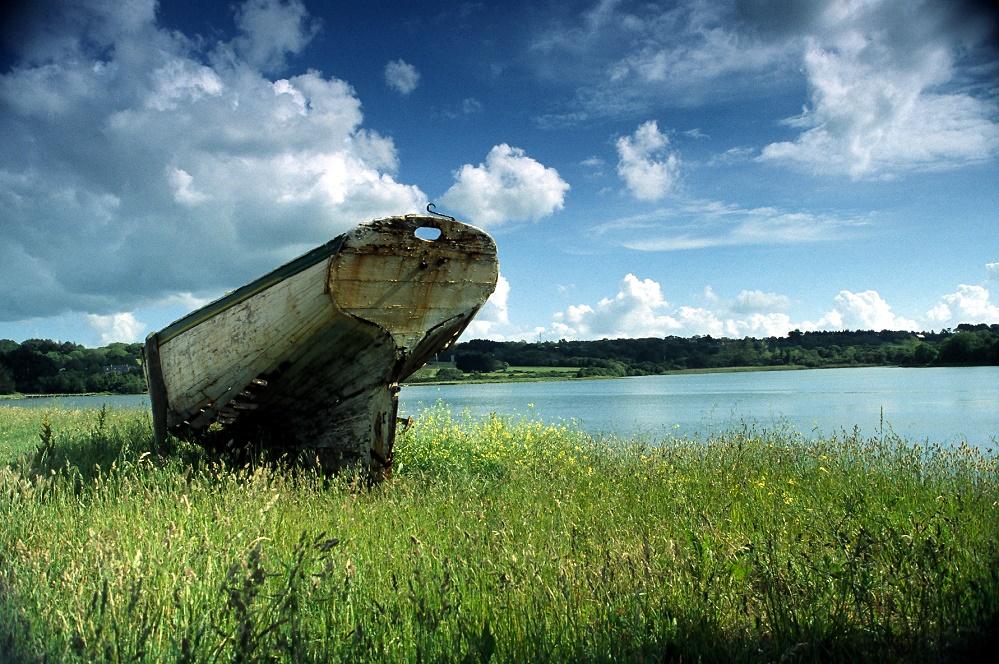 Altes Boot am Etang du Fret