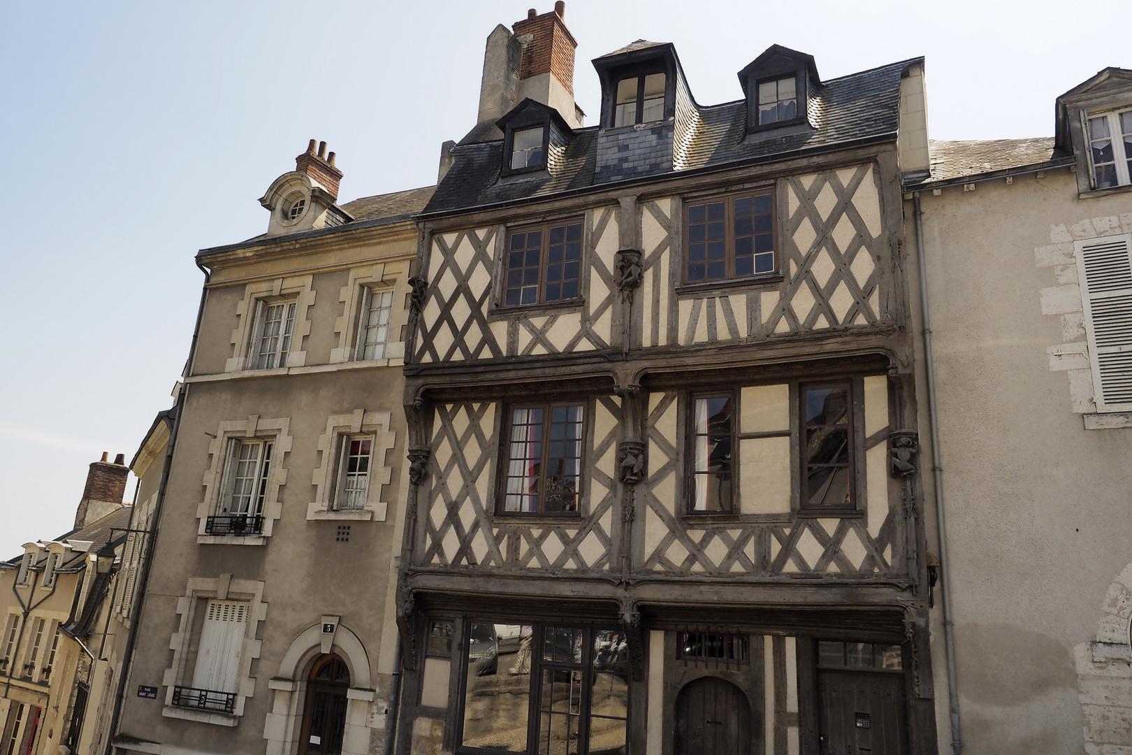 Altes Fachwerkhaus in Blois