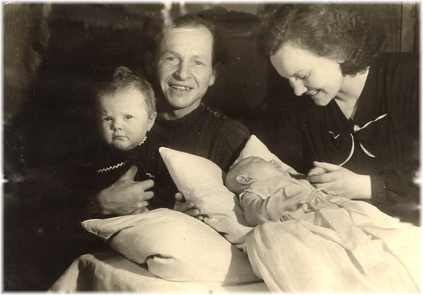 altes Familienfoto um 1950