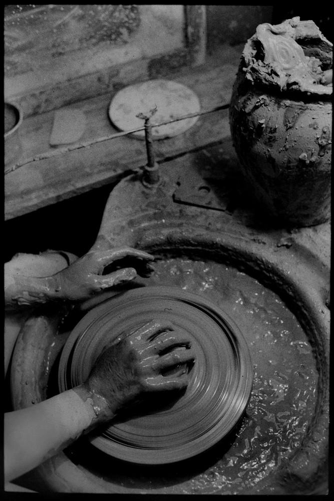 altes gutes bild eines keramikers