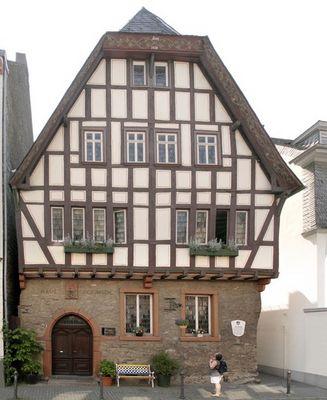 Altes Haus in Bacherach im Mittelrheintal