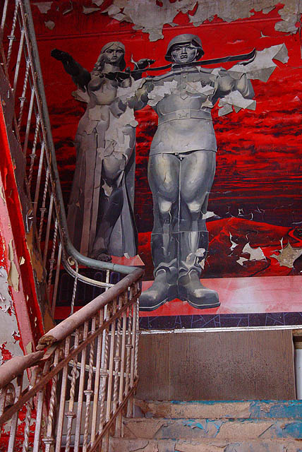 Altes Krankenhaus 1 - Roter Treppenaufgang