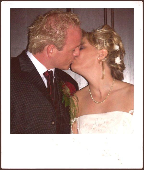 Altes Polaroid - Hochzeit Carmen und Stefan