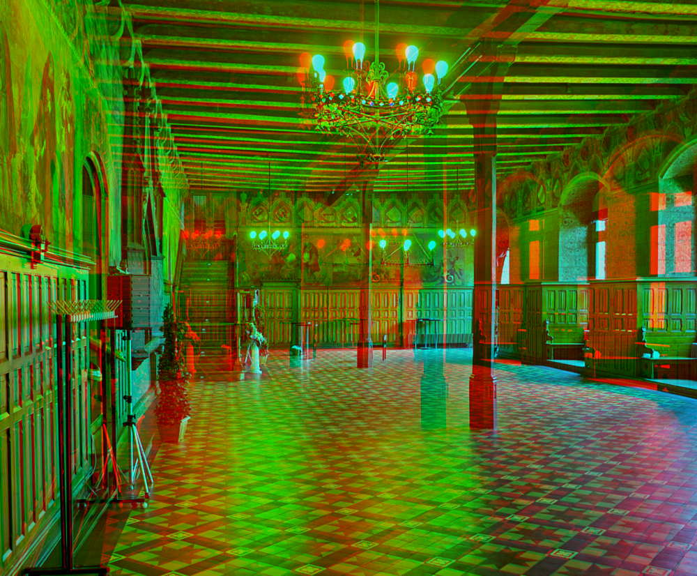 altes rathaus in g ttingen 3d f r rot cyan brille foto bild spezial stereo anaglyph. Black Bedroom Furniture Sets. Home Design Ideas