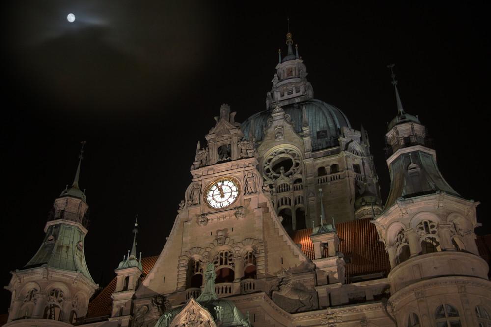 Altes Rathhaus in Hannover bei Nacht
