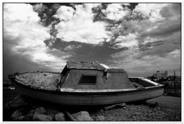 Altes Schiff in Galaxidy, Griechenland