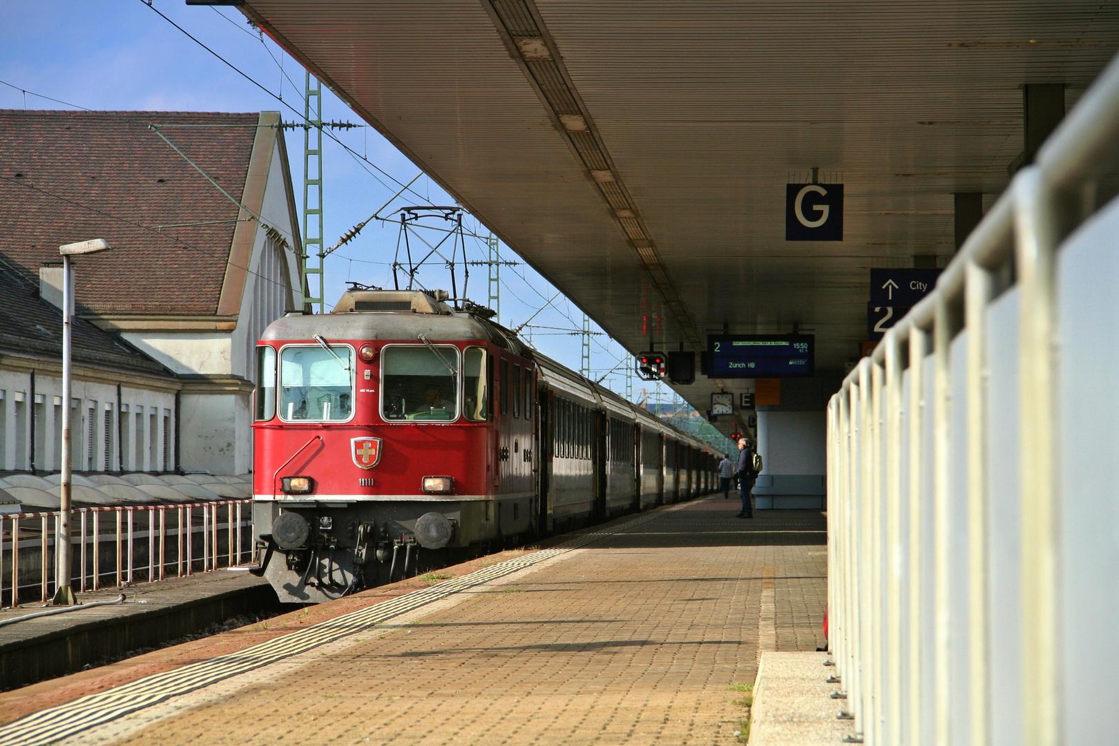 Altes schweizer Eisen in Basel Bad. Bf
