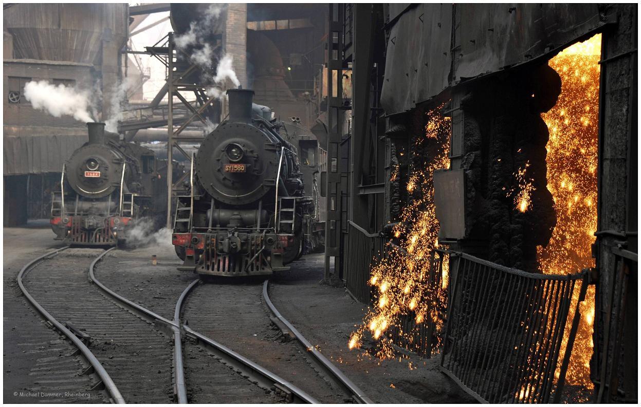 Altes und neues Eisen im Stahlwerk (China)