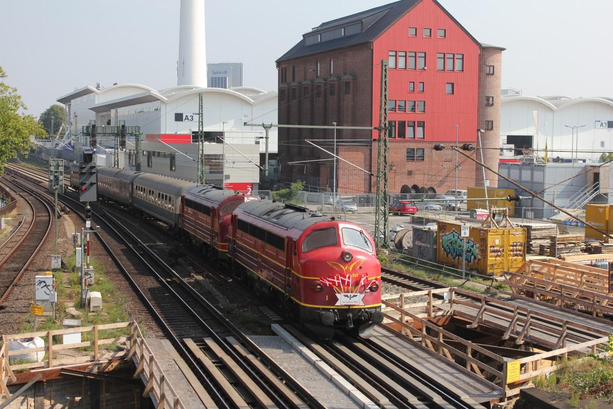 Altmark Rail Noab 1149 & 1155 mit dem IGE Sonderzug nach Odense