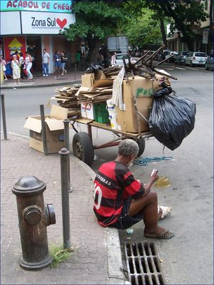 Altpapiersammler in Rio de Janeiro