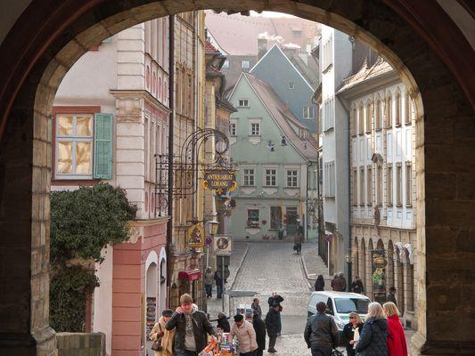 Altstadt von Bamberg im Winter