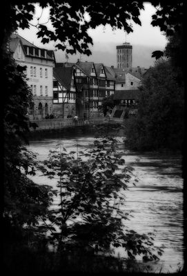 Altstadt - von den Wassermassen bedroht