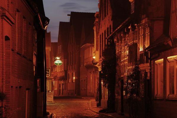 Altstadt von Lauenburg am Abend