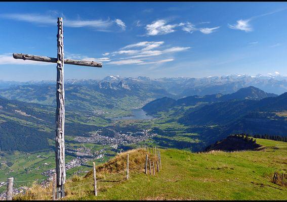 Altweibersommer in den schweizer Bergen