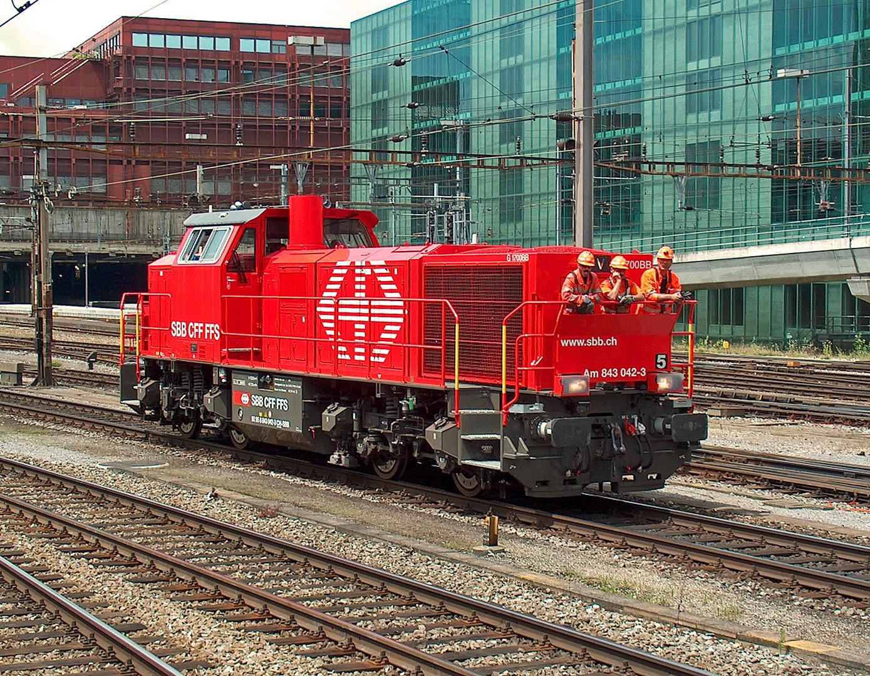 Am 843 042-3 bei Rangierarbeiten im Bahnhof Basel SBB