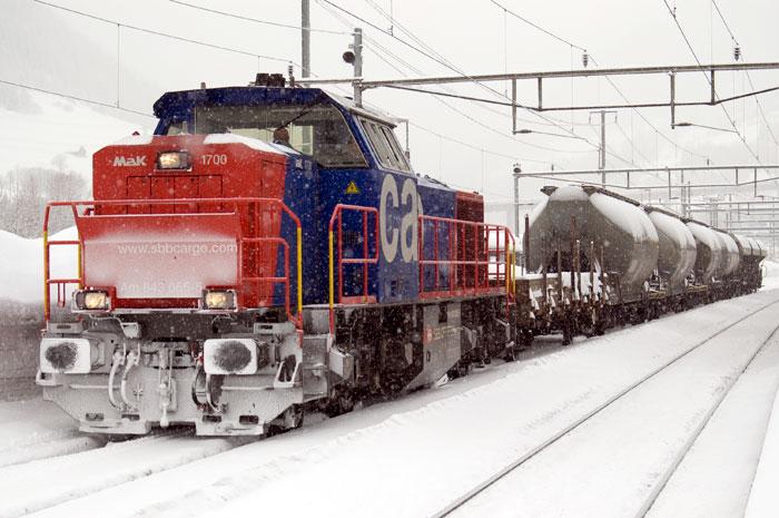 Am 843 im Schnee