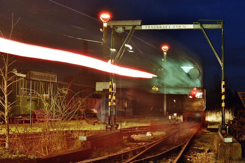 Am Abend bei der Museumsfeldbahn Leipzig-Lindenau