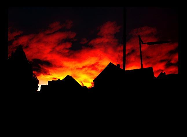 ...am abend brannten sie plötzlich...