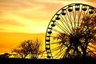 Am Abend eines Frühlingstages im Riesenrad