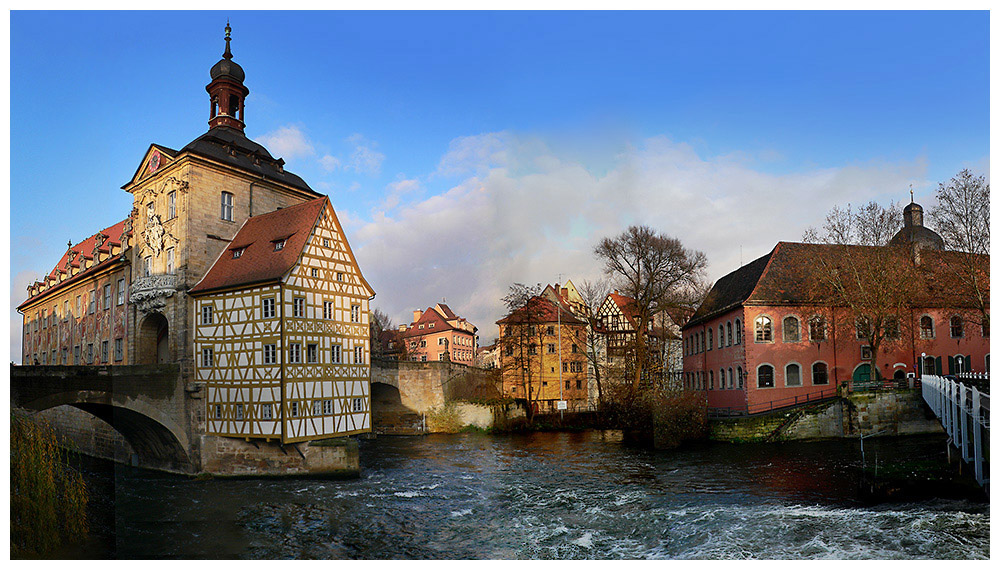 Am alten Rathaus in Bamberg