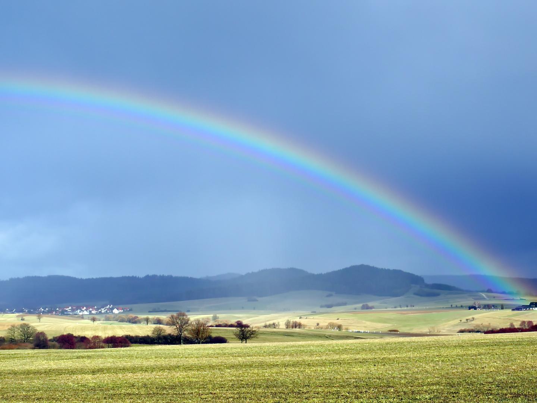 Am anderen Ende des Regenbogens ist ein Schatz vergraben!