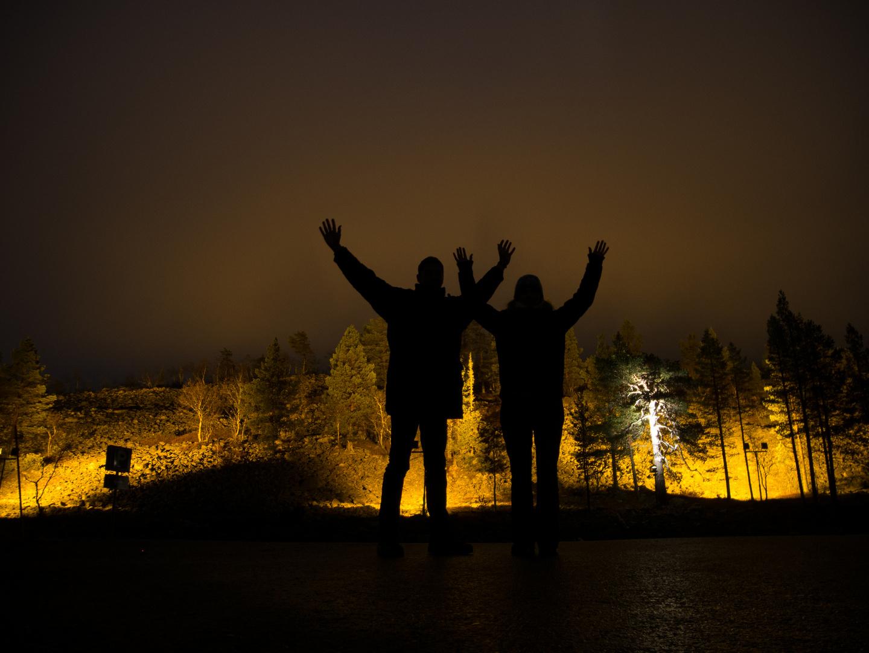 Am Berg Ylläs in Lappland / Finnland