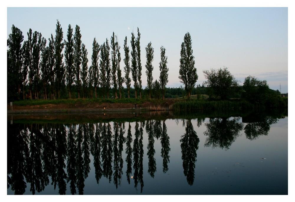 am Canal du Centre in Belgien (in der Nähe von Strepy Thieu)
