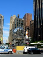 am Columbus Circle NYC die Unisphere