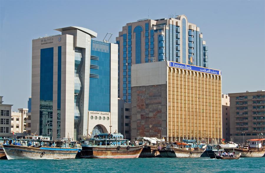 am Creek von Dubai