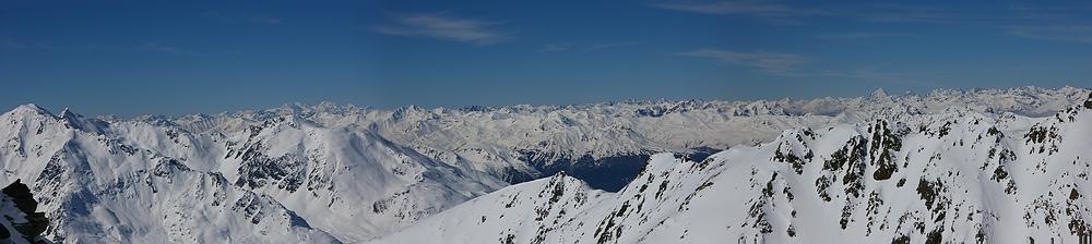 Am Dreiländerblick vom Kaunertaler Gletscher