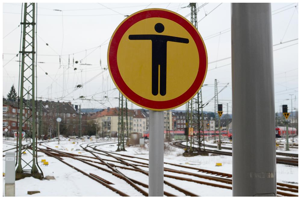 Am Ende des Bahnsteigs