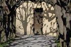 am Ende des Laubenganges im Dachauer Schloss