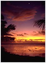 Am Ende eines Tages im Paradies: Sonnenuntergang in der Südsee (Rarotonga, Cook Inseln)