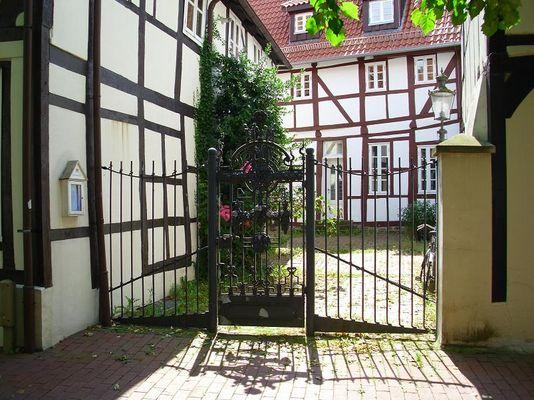 am Friedensplatz in der wunderschönen Mindener Altstadt...
