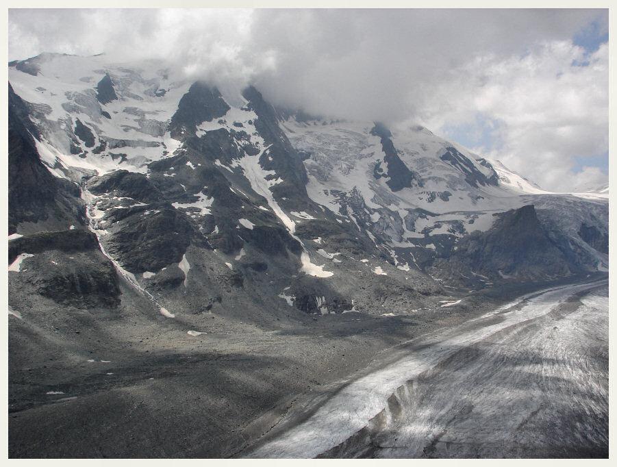 Am Fuß des Großglocknergletschers