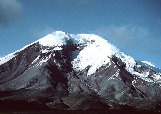 Am Fuße des Chimborazo.