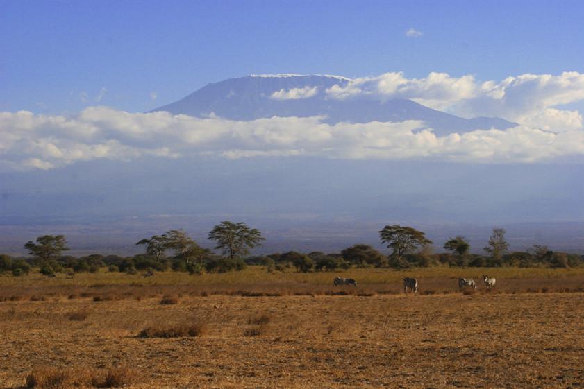 Am Fuße des Kilimanjaro