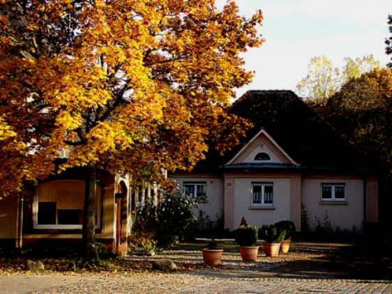 Am Gasthaus Malteserbad in Heitersheim