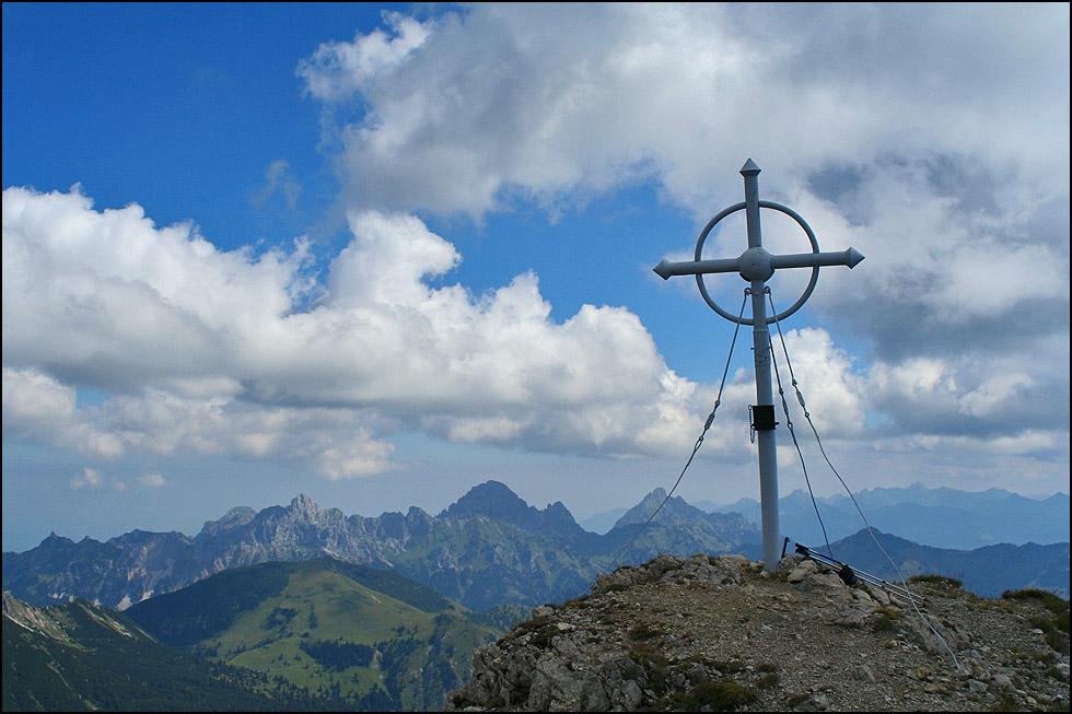 am Gipfel der Leilachspitze