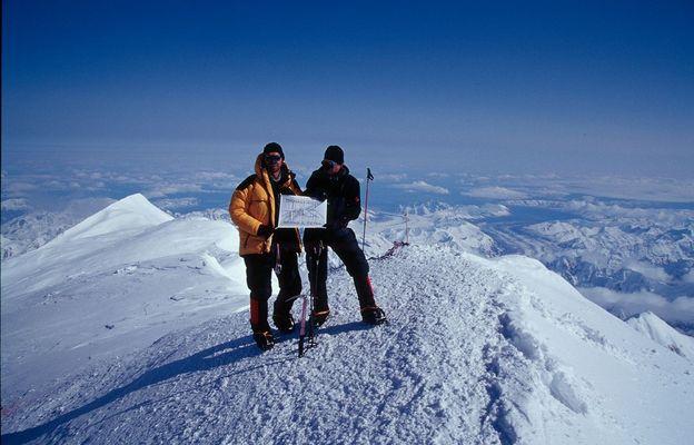 am Gipfel des Mt. McKinley