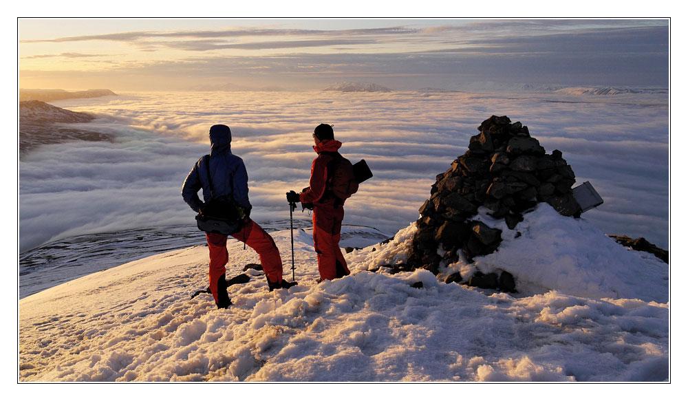 Am Gipfel des Sùlur Nord