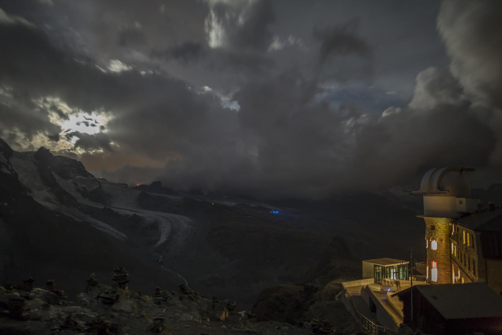 Am Gornergrat bei Nacht