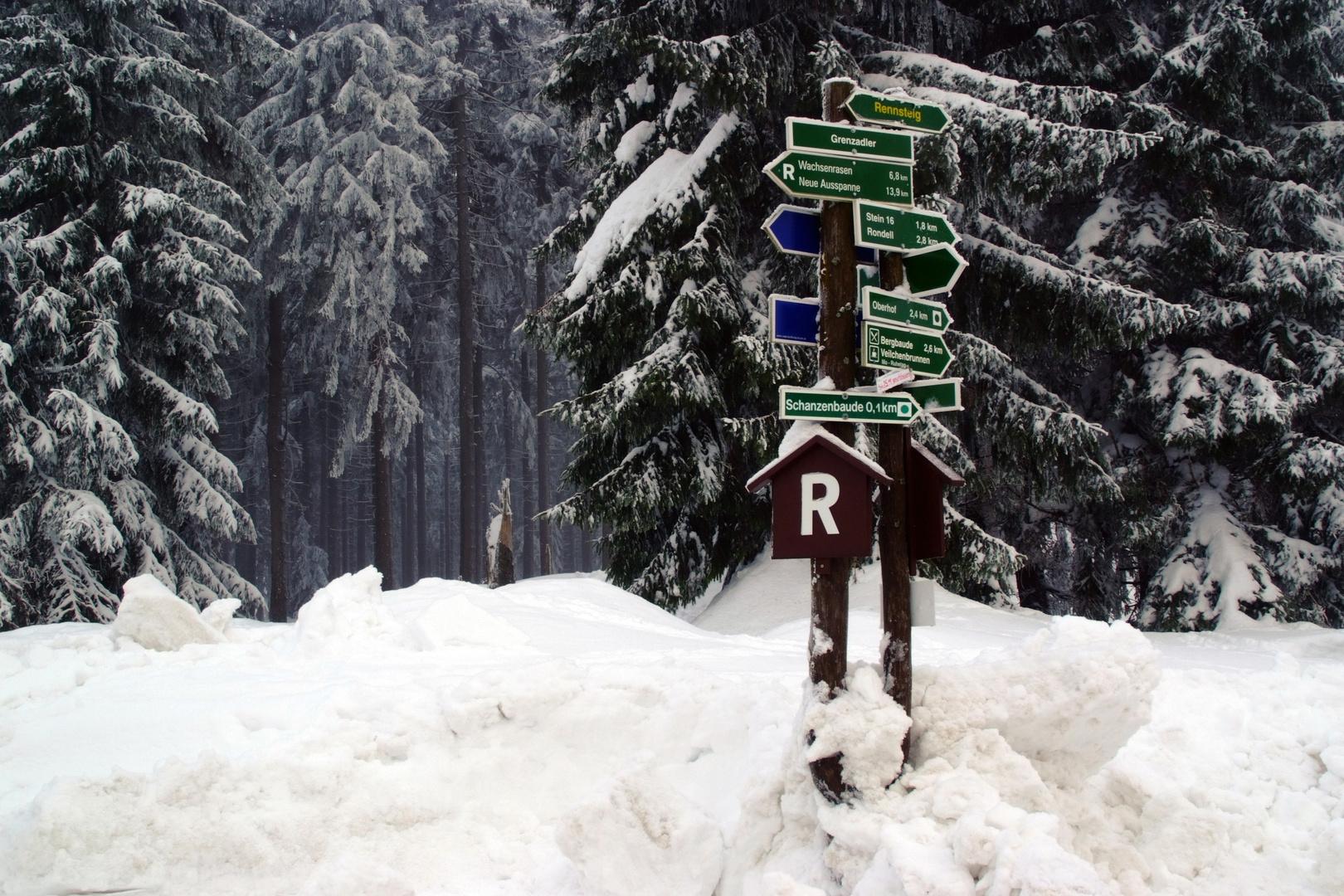 Am Grenzadler in Oberhof