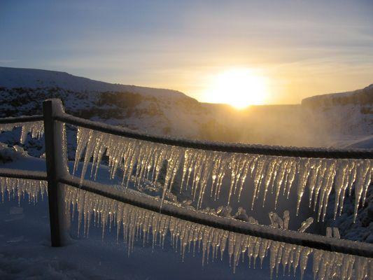 Am Gullfoss Wasserfall