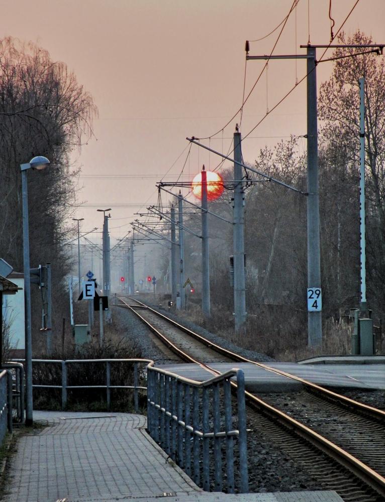 Am Haltepunkt Klaffenbach