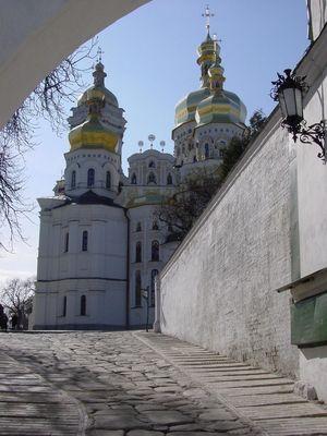 Am Höhlenkloster in Kiew / Ukraine