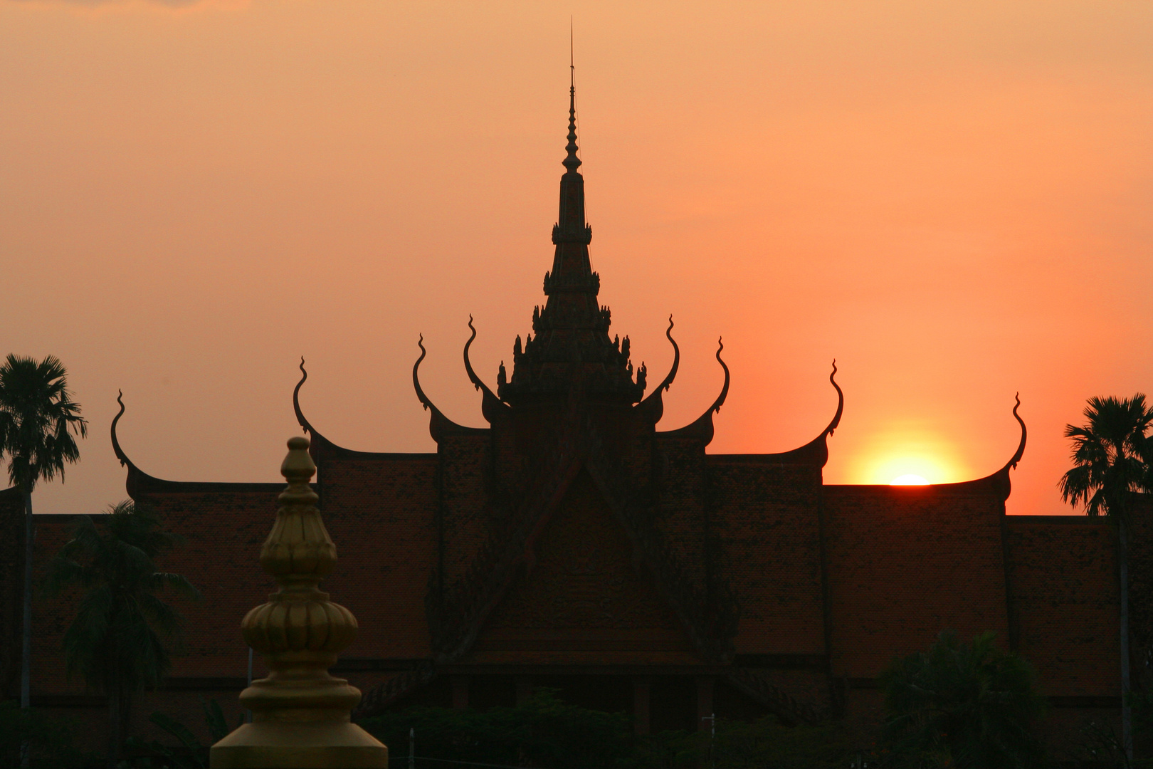 Am Königspalast in Phnom Penh