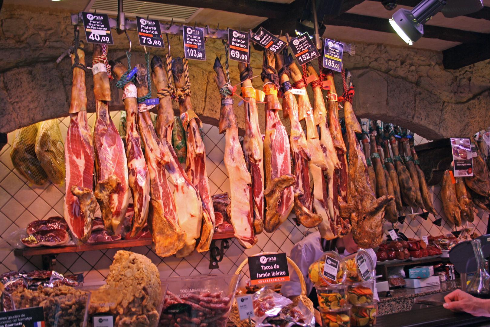 Am Markt von Las Ramblas Barcelona