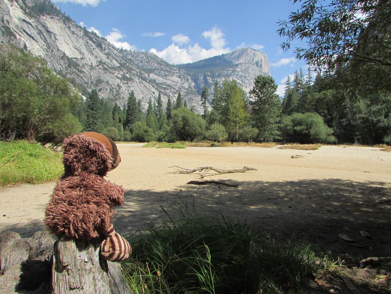 Am Mirror Lake im Yosemite NP